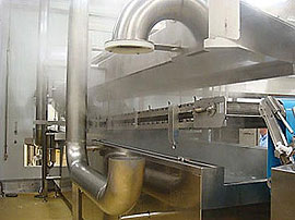 Continuous Belt Cookers - Automatic raising and lowering of lids, belts and manifolds