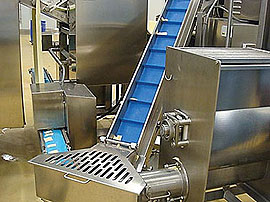 Continuous Belt Cookers - Low level mixer with automatic trim return to sheeter