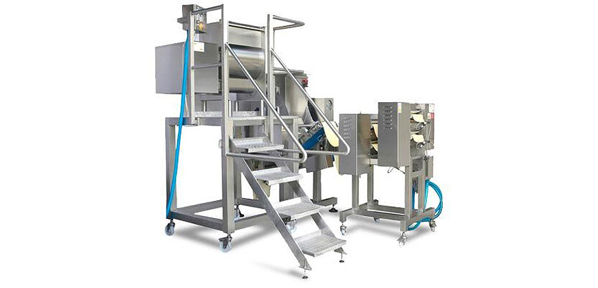 Pasta Making & Forming - Tecna Large Scale Fresh Pasta Equipment - Mixers