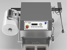 Tray Sealing & Thermoforming - Oceania Mini - Automatic film rewinder