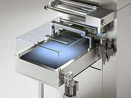 Tray Sealing & Thermoforming - Perseus - Motorized outfeed conveyor