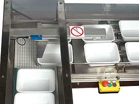 Tray Sealing & Thermoforming - Perseus - Tray infeed system