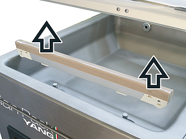 Vacuum Bag Packing - Bench Chamber Vacuum Packaging Machines - Atlantis 10 - Removable sealing bars