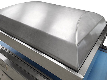 Vacuum Bag Packing - Conveyorised Chamber Vacuum Packing Machines - Atlantis Automatic 1000 - Completely rounded stainless steel for easy cleaning
