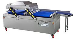 Vacuum Bag Packing - Conveyorised Chamber Vacuum Packing Machines - Atlantis Duet 2-290